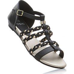 Rzymianki damskie: Sandały bonprix czarno-złoty