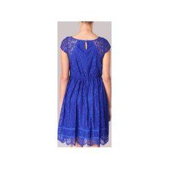 Sukienki krótkie Naf Naf  LAJADE R1. Niebieskie sukienki mini marki NAF NAF, z krótkim rękawem. Za 407,20 zł.