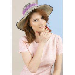Kapelusze damskie: Kapelusz z barwnymi wstawkami