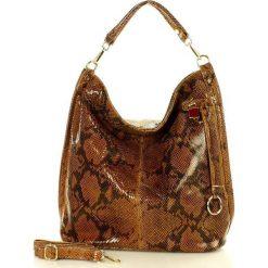 Skóra naturalna torebka worek Isabella MAZZINI camel. Brązowe torebki worki MAZZINI, ze skóry. Za 279,90 zł.