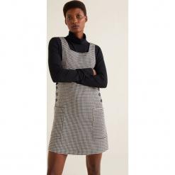 Mango - Sukienka Lock2. Szare sukienki mini marki Mango, na co dzień, l, z tkaniny, casualowe, z dekoltem halter, na ramiączkach, rozkloszowane. Za 139,90 zł.