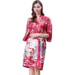 Szlafroki kimona damskie: Szlafrok w kolorze bordowym