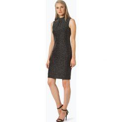 Ambiance - Sukienka damska, czarny. Białe sukienki marki BIALCON, na imprezę, w koronkowe wzory, z koronki, z kopertowym dekoltem, midi, kopertowe. Za 449,95 zł.