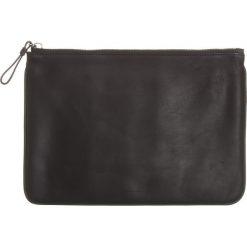 Puzderka: Skórzana kopertówka w kolorze czarnym – 29 x 20 x 1,5 cm