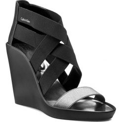 Sandały damskie: Sandały CALVIN KLEIN BLACK LABEL - Nuria N12007 Black+Stee