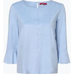 S.Oliver Casual - Koszulka damska, niebieski. Niebieskie t-shirty damskie s.Oliver Casual, s, z weluru. Za 159,95 zł.