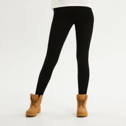 Bawełniane legginsy - Czarny. Czarne legginsy marki Sinsay, l, z bawełny. Za 39,99 zł.