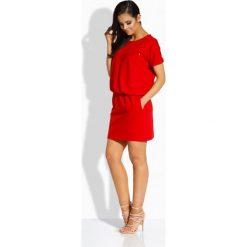 Sukienki: Luźna sukienka z kieszonką czerwony