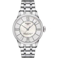 PROMOCJA ZEGAREK TISSOT Chemin Des Tourelles Automatic Lady T099.20. Białe zegarki damskie TISSOT, ze stali. W wyprzedaży za 2992,00 zł.