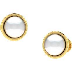 Kolczyki damskie: Złote kolczyki-wkrętki z ozdobnymi perełkami