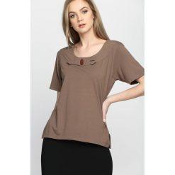 T-shirty damskie: Brązowy T-shirt Subtype