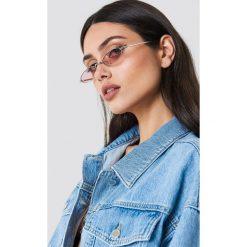 Okulary przeciwsłoneczne damskie: NA-KD Trend Owalne okulary przeciwsłoneczne retro – Pink