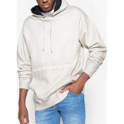 Bluza z kapturem oversize, efekt cold dyed. Szare bluzy męskie rozpinane marki La Redoute Collections, m, z bawełny, z kapturem. Za 126,38 zł.