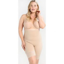 Body i gorsety: Maidenform CURVY FIRM FOUNDATIONS HIWAIST THIGH SLIMMER Bielizna korygująca body beige