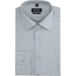 Koszula versone 2855 długi rękaw slim fit szary. Szare koszule męskie slim marki Recman, na lato, l, w kratkę, button down, z krótkim rękawem. Za 139,00 zł.
