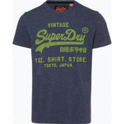 Superdry - T-shirt męski, niebieski. Niebieskie t-shirty męskie z nadrukiem Superdry, l, z gumy. Za 149,95 zł.