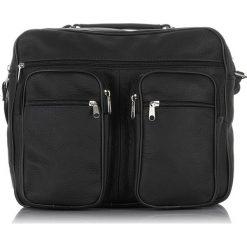 TORBA MĘSKA ABRUZZO DO PRACY SKÓRZANA. Czarne torby na ramię męskie Abruzzo, w paski, z materiału, do ręki. Za 139,00 zł.