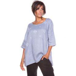 """Bluzki asymetryczne: Lniana koszulka """"Shira"""" w kolorze szarym"""