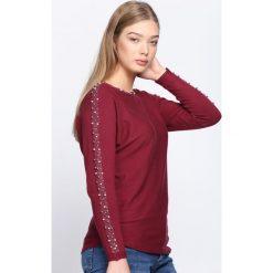 Bordowy Sweter Happy Rush. Czerwone swetry klasyczne damskie Born2be, l, z dekoltem w łódkę. Za 64,99 zł.
