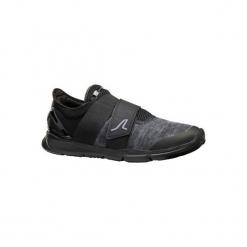 Buty męskie do szybkiego marszu Soft 180 Strap czarne. Czarne buty fitness męskie marki NEWFEEL, z poliamidu. Za 99,99 zł.