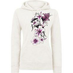 Bluzy damskie: Flowers Bluza z kapturem damska biały (Old White)