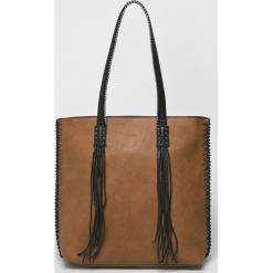 Medicine - Torebka Vintage Revival. Brązowe torebki klasyczne damskie MEDICINE, z materiału, duże. Za 159,90 zł.
