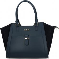 Torba - 8-012-O BL-BL. Żółte torebki klasyczne damskie Venezia, ze skóry. Za 399,00 zł.