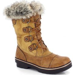 """Buty zimowe damskie: Kozaki """"Megeve"""" w kolorze beżowym"""