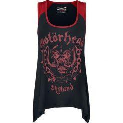 Motörhead EMP Signature Collection Top damski czarny/czerwony. Czarne topy damskie Motörhead, xxl, z nadrukiem, z materiału. Za 74,90 zł.