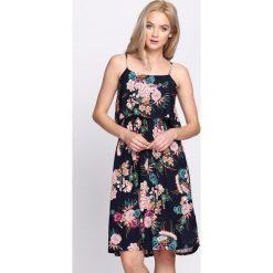 Sukienki: Granatowa Sukienka Flavescent