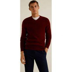 Mango Man - Sweter Softy. Brązowe swetry klasyczne męskie Mango Man, l, z dzianiny. Za 199,90 zł.