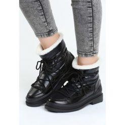 Czarne Śniegowce Good Reason. Czarne buty zimowe damskie marki TOMMY HILFIGER, z materiału. Za 114,99 zł.
