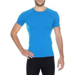 Koszulki sportowe męskie: Brubeck Koszulka męska Merino Active Wool niebieska r. L (SS11710)