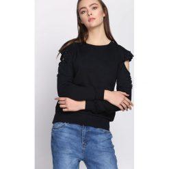 Granatowa Bluza Keep Calm. Szare bluzy damskie Born2be, xl, z aplikacjami, z dresówki. Za 39,99 zł.