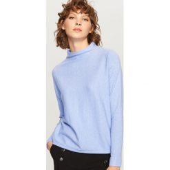 Sweter z niską stójką - Niebieski. Niebieskie swetry klasyczne damskie marki Reserved, l, ze stójką. W wyprzedaży za 34,99 zł.