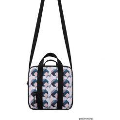 Kuferki damskie: Listonoszka kuferek pattern geometric różowy
