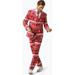 OppoSuits - Garnitur męski z krawatem – Winter Wonderland, czerwony. Czerwone garnitury OppoSuits. Za 379,95 zł.
