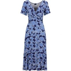 Sukienki: Sukienka dżersejowa bonprix niebiesko-jasnoniebieski z nadrukiem