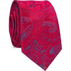 Krawat KWWR000355. Czerwone krawaty męskie Giacomo Conti, z jedwabiu. Za 129,00 zł.