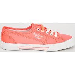 Pepe Jeans - Tenisówki. Różowe tenisówki damskie Pepe Jeans, z jeansu. W wyprzedaży za 139,90 zł.