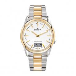 """Zegarek """"4460675"""" w kolorze srebrno-złotym. Szare, analogowe zegarki męskie Dugena & Nautec No Limit, ze stali. W wyprzedaży za 599,95 zł."""