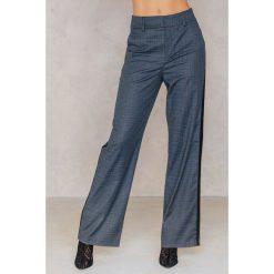 Spodnie z wysokim stanem: Gestuz Spodnie Asta – Grey,Multicolor
