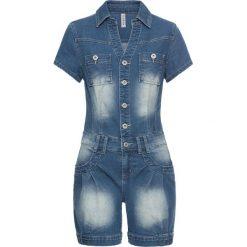 """Kombinezony damskie: Kombinezon dżinsowy bonprix niebieski """"stone"""""""
