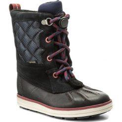 Śniegowce CLARKS - Syd Hi Gtx Inf GORE-TEX 261191446 Navy Leather. Niebieskie buty zimowe chłopięce marki Clarks, z gore-texu. W wyprzedaży za 229,00 zł.