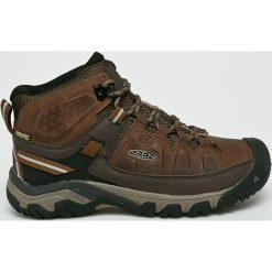 Keen - Buty Targhee III Mid. Brązowe buty trekkingowe męskie marki Keen, z materiału, na sznurówki, outdoorowe. Za 499,90 zł.