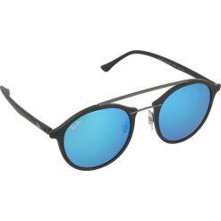 Okulary przeciwsłoneczne męskie: Okulary unisex w kolorze czarno-niebieskim
