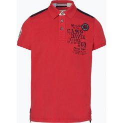 Camp David - Męska koszulka polo, czerwony. Czerwone koszulki polo Camp David, l, z aplikacjami. Za 279,95 zł.