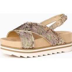 Sandały damskie: Guess Jeans - Sandały damskie, złoty