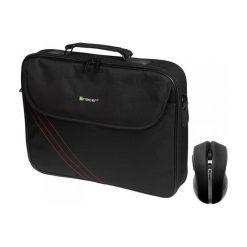 """TRACER Torba na notebooka 15,6"""" Bonito Bundle 2 + mysz bezprzewodowa TRATOR45854. Czarne torby na laptopa marki Tracer, w paski, z poliesteru. Za 51,03 zł."""
