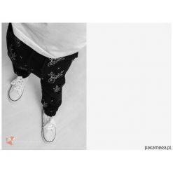 Chinosy chłopięce: Wiosenne spodnie baggy czarne Jelenie